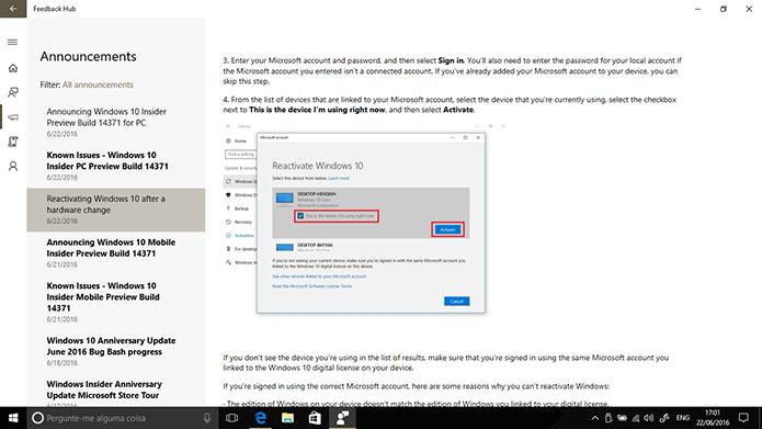 Microsoft detalha como ferramenta de correção de problemas de ativação funciona (Foto: Reprodução/Elson de Souza)
