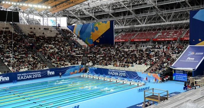 Arena de Kazan piscina Mundial de Esportes Aquáticos evento teste (Foto: Divulgação / Kazan2015)