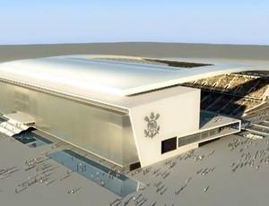 estádio corinthians 3d odebrecht (Foto: Divulgação)