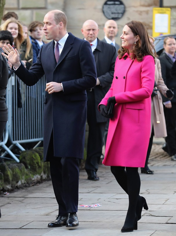 COVENTRY, ENGLAND - JANUARY 16:  Prince William, Duke of Cambridge and Catherine, Duchess of Cambridge arrive for their visit to Coventry Cathedral during their visit to the city on January 16, 2018 in Coventry, England.  (Photo by Christopher Furlong/Get (Foto: Getty Images)