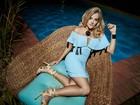 Gabi Lopes mostra belas pernas durante ensaio de moda