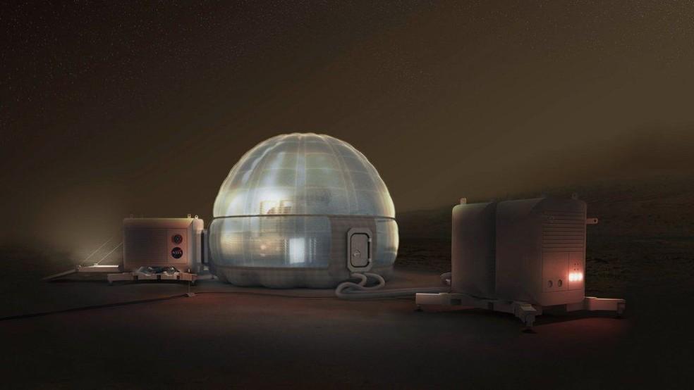 Uma das vantagens de uma base translúcida é que os astronautas não terão a sensação de estarem em uma caverna (Foto: NASA/CLOUDS AO/SEARCH)