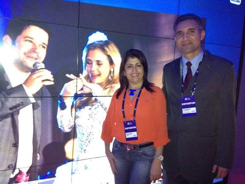 Joelma e Alde Rodrigues em Feira de eventos da Rede Globo, em São Paulo. (Foto: Arquivo Pessoal)