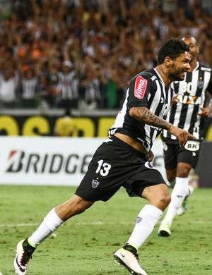 Carlos, atacante do Atlético-MG, comemora gol contra o Melgar (Foto: Bruno Cantini/CAM)
