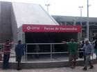 Trio armado faz arrastão dentro do trem da CPTM em Ferraz