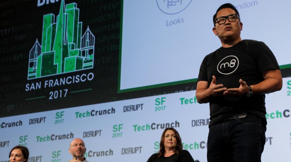 Stephen Liu, da M8, durante o TechCrunch Disrupt (Foto: Divulgação)
