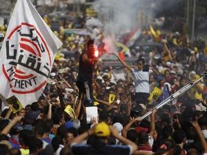 Membros da Irmandade Muçulmana protestam nesta sexta-feira (4) no Egito (Foto: Amr Abdallah Dalsh/ Reuters)
