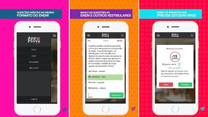AppProva traz mais de nove mil questões para que usuário resolva e compare com amigos (Foto: Divulgação/App Store)