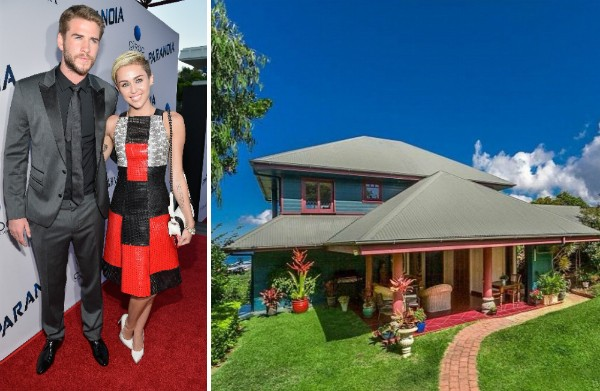 Miley Cyrus, Liam Hemsworth e a propriedade que eles estariam cogitando comprar na Austrália (Foto: Getty Images/Divulgação)