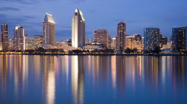 Skyline em San Diego (Foto: GE)