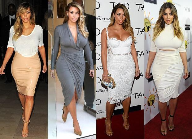[MODA] Kim Kardashian - Justus (Foto: AKM-GSI / AKM-GSI - Agência Getty Images)