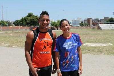 """Com a treinadora Mariana Santana, o """"Cavalo""""  treina para o Brasileiro sub-23 (Foto: Henrique Almeida)"""