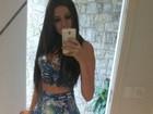 Tamires Peloso mostra cinturinha em selfie e impressiona fãs: 'Que magra!'