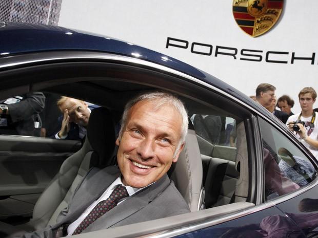 Matthias Muller durante o Salão de Frankfurt, no começo deste mês (15/09/15) (Foto: Ralph Orlowski/Reuters)