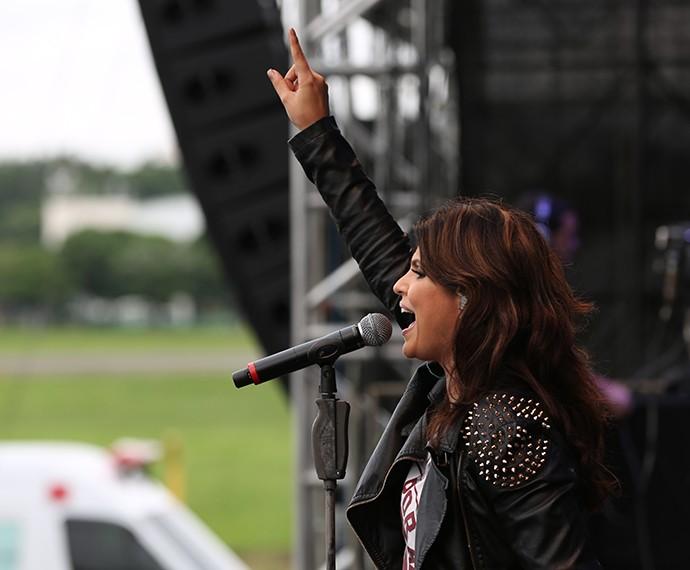 Aline Barros é uma das cantores de maior sucesso (Foto: Carol Caminha/Gshow)