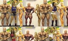 Gatas do balé brincam que são supermusculosas (TV Globo)
