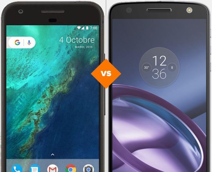 Google Pixel ou Moto Z: veja qual celular se sai melhor em comparativo (Foto: Arte/TechTudo)