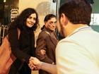 Letícia Sabatella registra boletim de ocorrência após ser hostilizada em ato