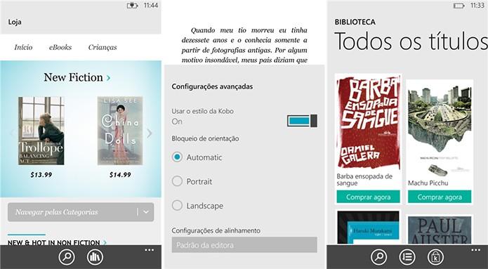 Kobo é um aplicativo para Windows Phone com suporte a livros digitais (Foto: Divulgação/Windows Phone Store)