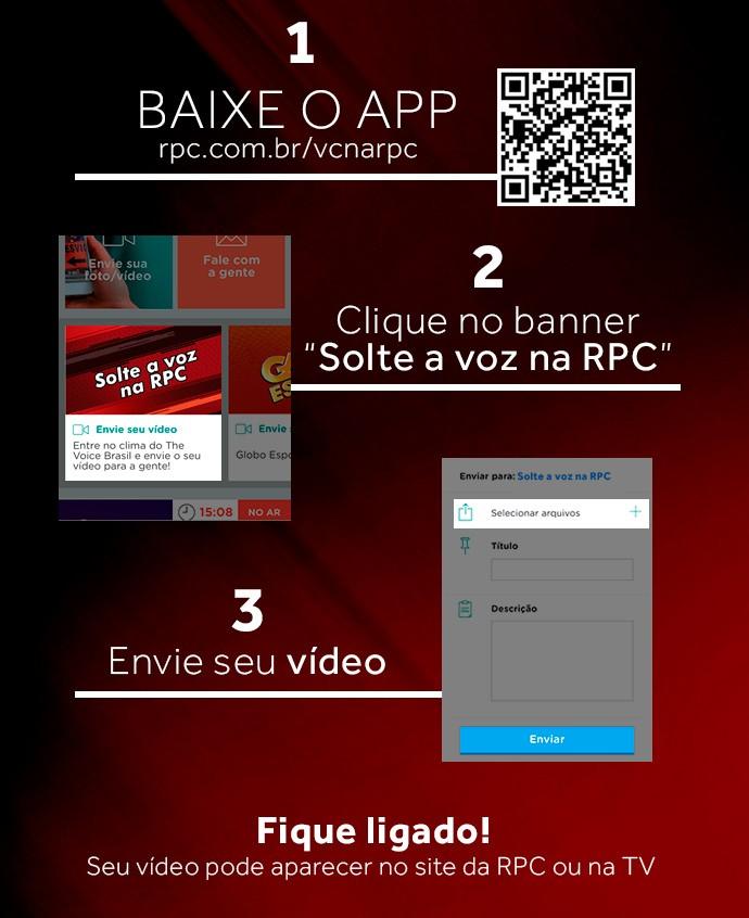 Solte a voz na RPC: mande o seu vídeo, no clima do 'The Voice' (Foto: Arte / RPC)