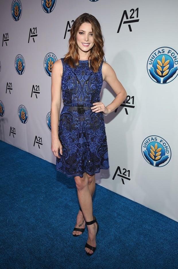Ashley Greene em evento em Nova York, nos Estados Unidos (Foto: Bryan Bedder/ Getty Images/ AFP)