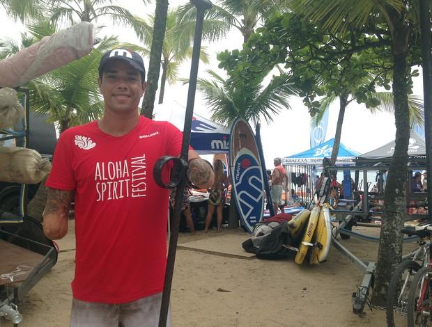 Jonas Letieri - surfista de stand up (Foto: Christiane Mussi)