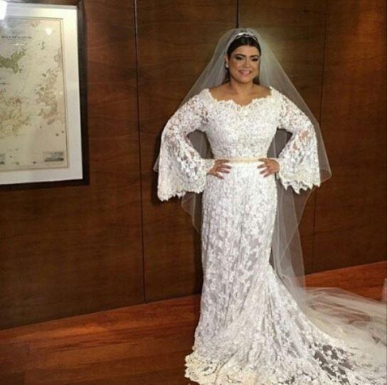 Vestido de noiva da Preta Gil