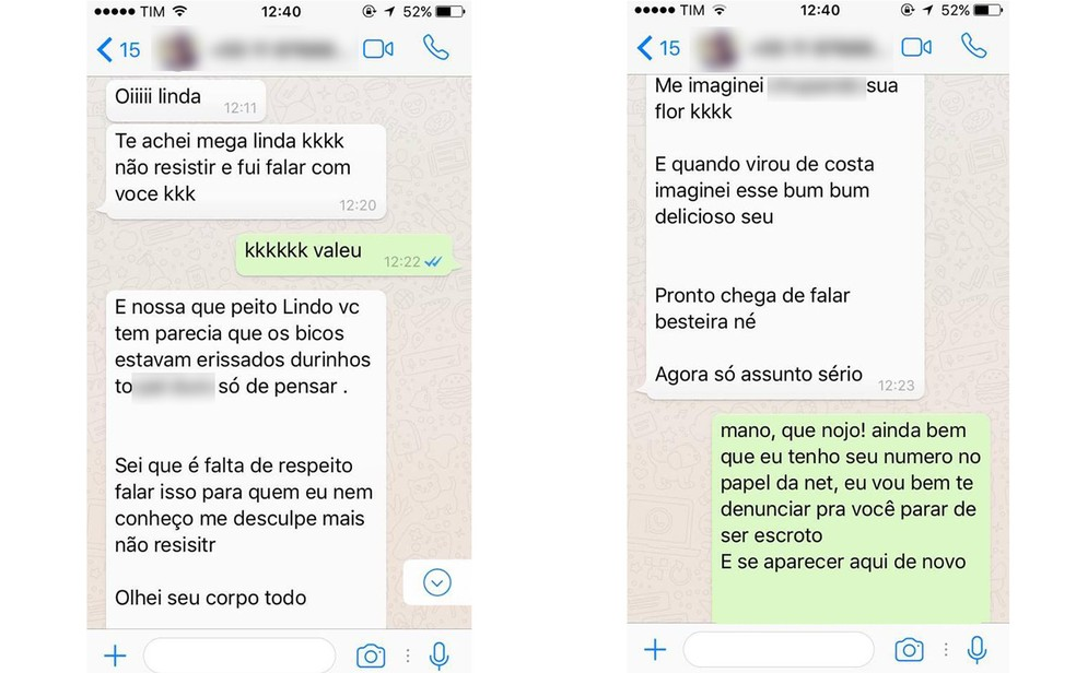 Vendedor da NET utilizou contato de cliente para assediá-la em rede social na quinta-feira (8), em São Paulo (Foto: Arquivo Pessoal)