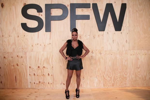 Adriana Bombom no SPFW 2015 (Foto: Raphael Castello  / AgNews)