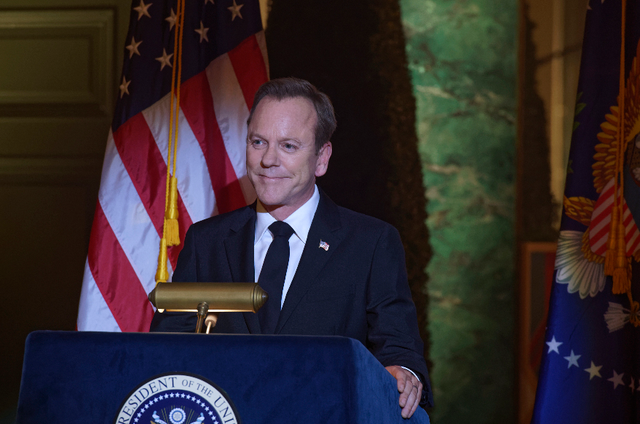 Kiefer Sutherland em 'Designated survivor' (Foto: ABC)