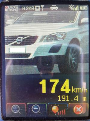 Motorista foi flagrado a 174km/h no RS (Foto: PRF/Divulgação)