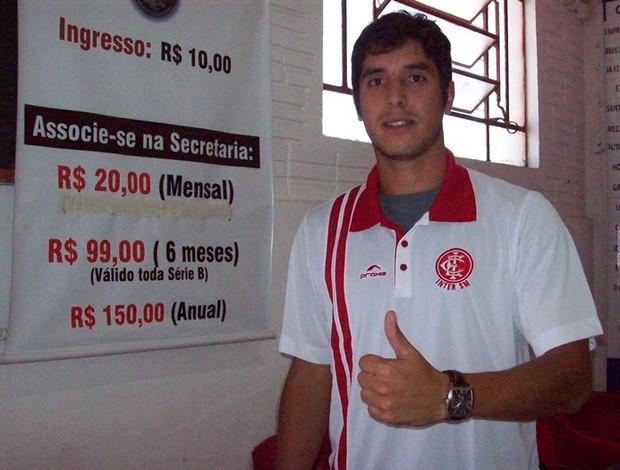 Diego Borges, zagueiro, ex-Inter Santa Maria, atual Uberaba Sport (Foto: Arquivo Pessoal)