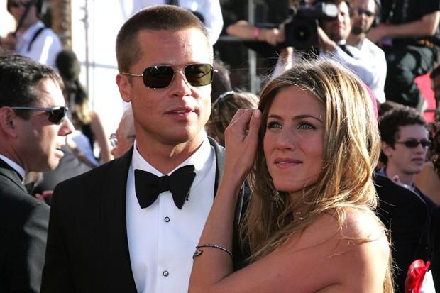Brad Pitt e Jennifer Aniston (Foto: Getty Images)
