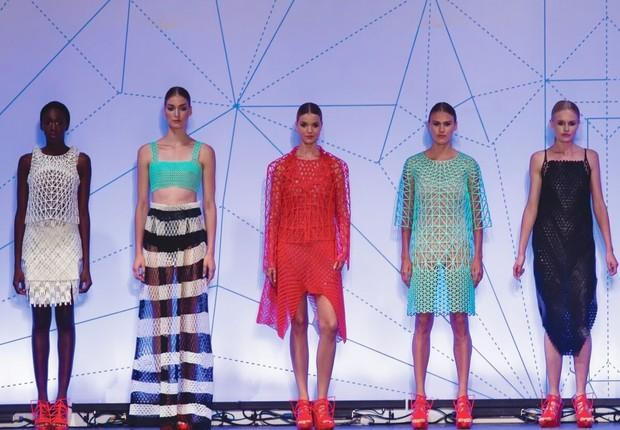 Coleção de roupas feitas em impressora 3D pela designer Danit Peleg (Foto: Danit Peleg)