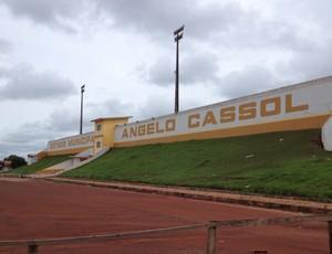 Estádio Ângelo Cassol, o Cassolão, em Rolim de Moura, Rondônia (Foto: Paula Casagrande)