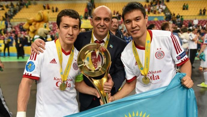 Cacau Kairat campeão liga dos campeões futsal (Foto: Sportsfile)