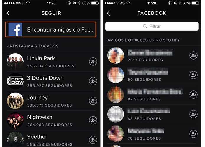 Siga seus amigos do Facebook no Spotify (Foto: Reprodução/Barbara Mannara)