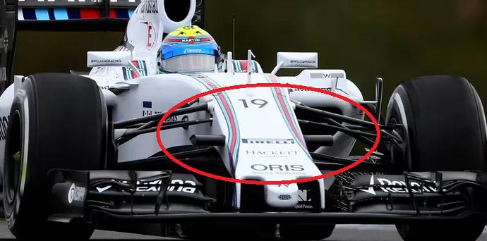 Williams de Felipe Massa apresenta solução mais convencional e discreta para as câmeras onboard (Foto: Getty Images)