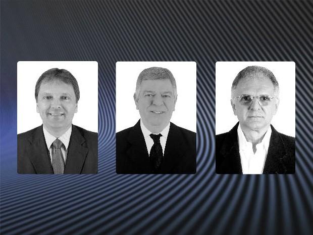 Candidatos à Prefeitura de Mongaguá, no litoral de São Paulo (Foto: Arte/G1 Santos)