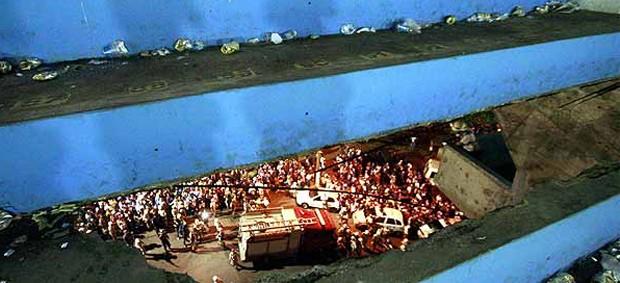 Fonte Nova tragédia (Foto: Futura Press)