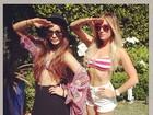 Vanessa Hudgens e Ashley Tisdale posam de barriga de fora