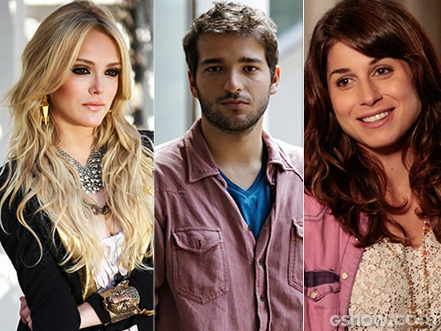 Triângulo amoroso: Megan quer Davi, mas ele só pensa em Manu... (Foto: Geração Brasil / TV Globo)