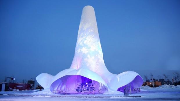 Maior torre de gelo do mundo poderá ser replicada em Marte (Foto: Divulgação)