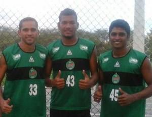 Thiaguinho, Gilmar e Paulinho chegam ao Serrano (Foto: Divulgação / Serrano)
