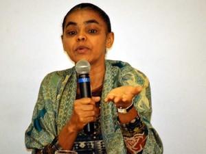 A ex-ministra do Meio Ambiente Marina Silva em palestra na Unicamp (Foto: Marcello Carvalho/G1)