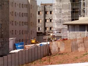 Canteiro de obras em Campinas (Foto: Reprodução EPTV)
