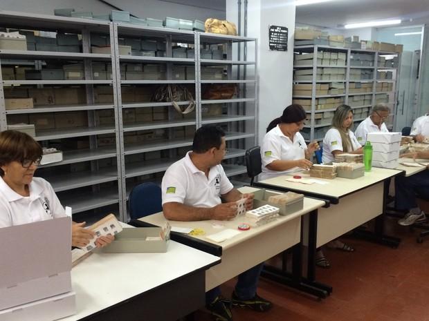 Projeto cria banco de dados de digitais para ajudar a esclarecer crimes, em Goiás (Foto: Vitor Santana/G1)