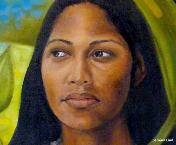 Ilustração da índia taína Yuiza, caso raro de mulher porto-riquenha que chegou a ser cacique de sua tribo (Foto: Reprodução)