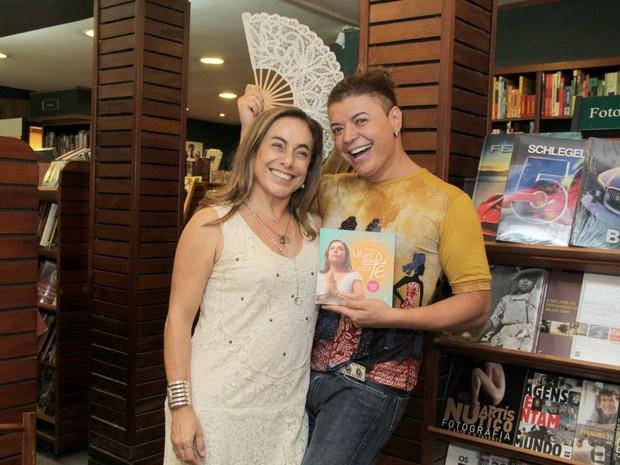 Cissa Guimarães e David Brazil (Foto: Alex Palarea / AgNews)