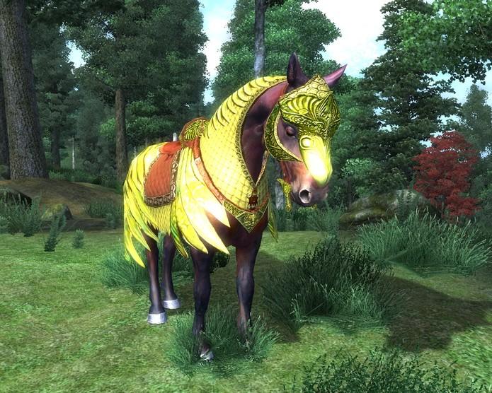 A inútil armadura de cavalo em Oblivion (Foto: Reprodução/Nutroniks)